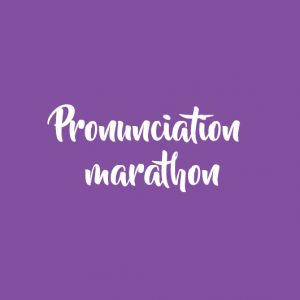 Pronunciation marathon (RUSSIAN VERSION)