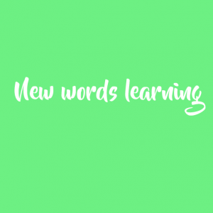 New words learning (FREE)