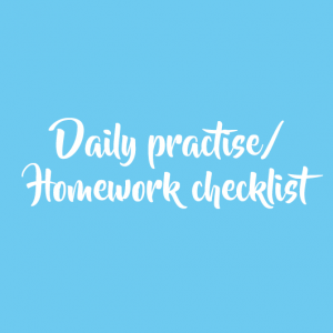 Daily practise/homework Checklist (FREE)