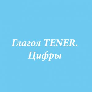 Глагол TENER. Цифры