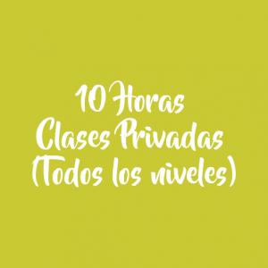 10 HORAS/ CLASES PRIVADAS