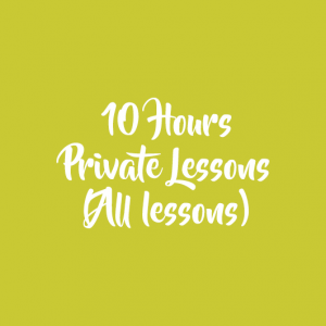 10 HOURS PRIVATE LESSONS (ALL LEVELS)