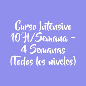 CURSO INTENSIVO 10 H/SEMANA – 4 SEMANAS