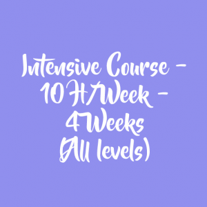 INTENSIVE COURSE – 10 H/WEEK – 4 WEEKS