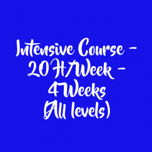 INTENSIVE COURSE – 20 H/WEEK – 4 WEEKS