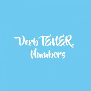 Verb TENER. Numbers