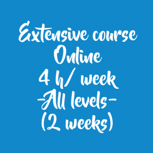 ONLINE EXTENSIVE COURSE 4 H/ WEEK – 2 WEEKS