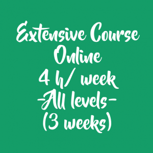 ONLINE EXTENSIVE COURSE 4 H/ WEEK – 3 WEEKS