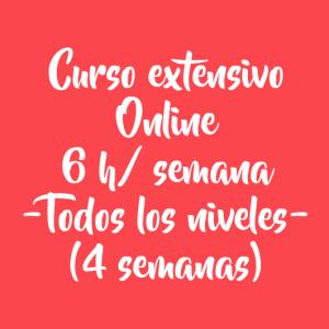 CURSO EXTENSIVO ONLINE 6 H/ SEMANA – 4 SEMANAS