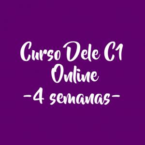 CURSO DELE C1 ONLINE – 4 SEMANAS (8 horas)