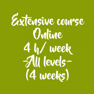 ONLINE EXTENSIVE COURSE 4 H/ WEEK – 4 WEEKS