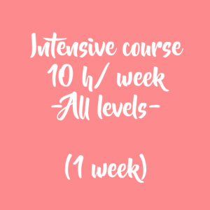 ONLINE INTENSIVE COURSE – 10 H/ WEEK – 1 WEEK