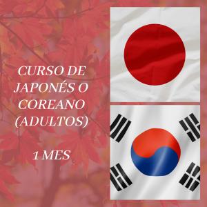 CURSO DE JAPONÉS O COREANO – 1 MES